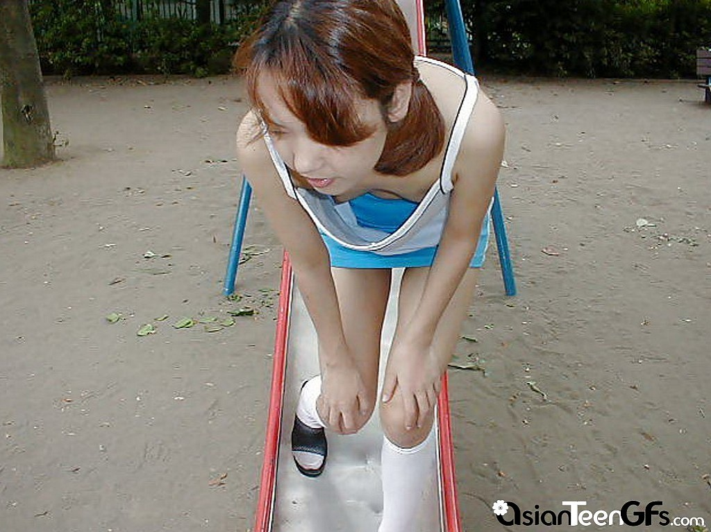 Asian Teen Takes Off 15