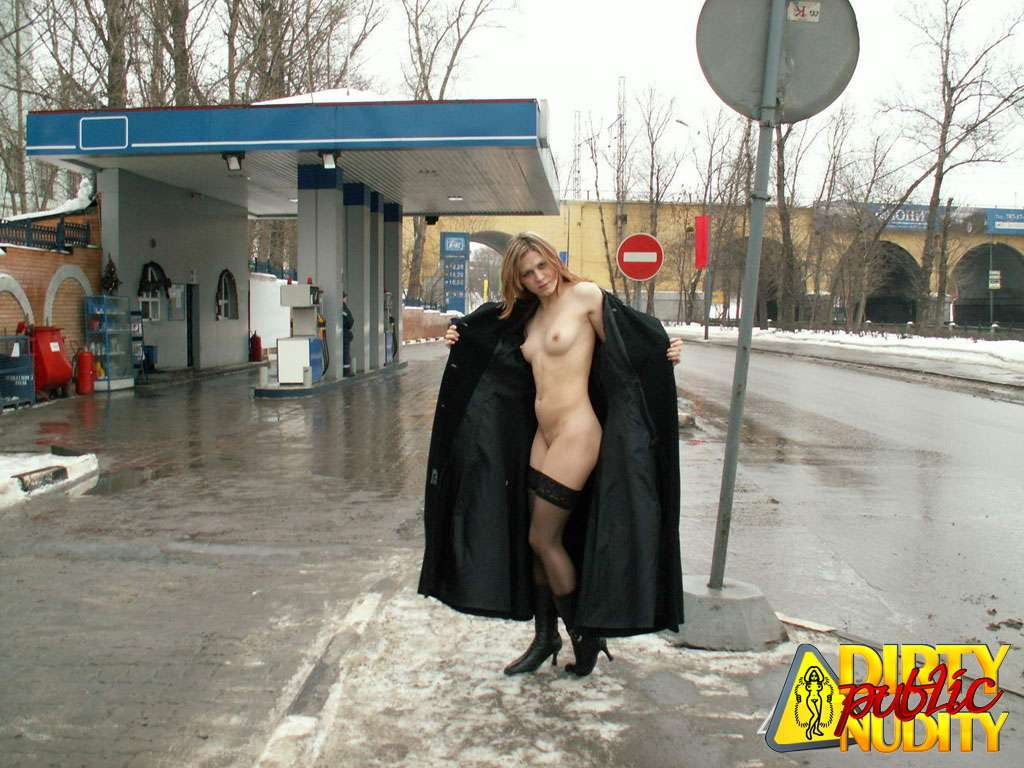 Only pantyhose under coat