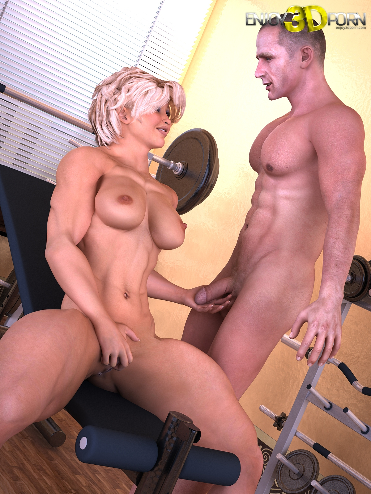 3d sex woman art big bodybuilding fucks scene