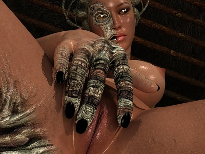 Meravigliosa calda interdimensional ragazza mostra la sua topa primo piano a Gode 3D Pornografia