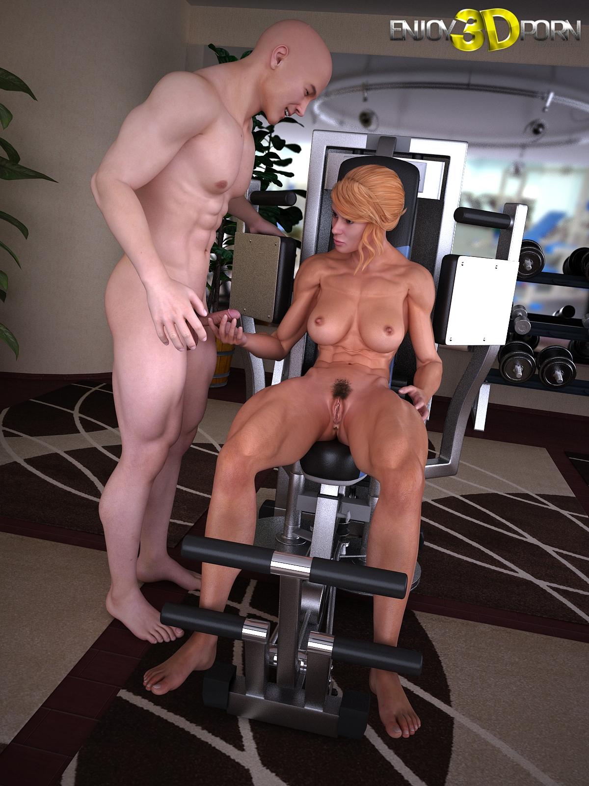 тренером персональным порно с тренировки