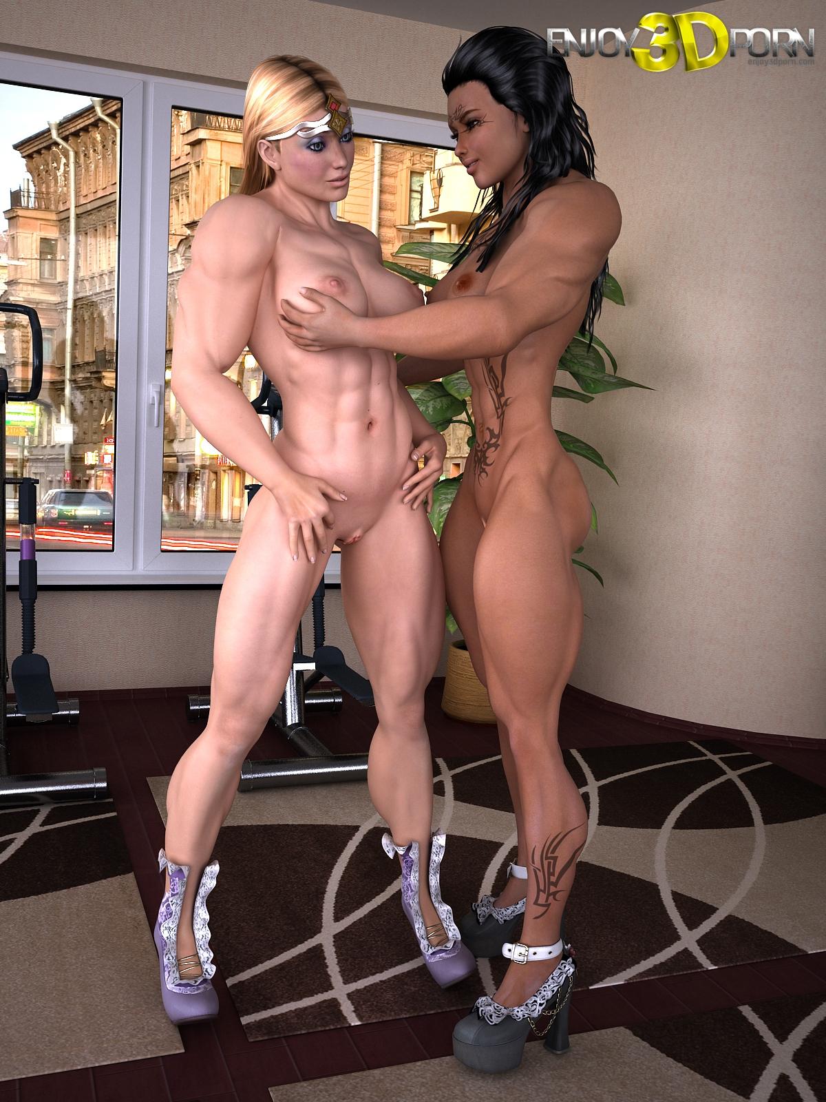Amazing 3d lesbian sex pornos submissive woman