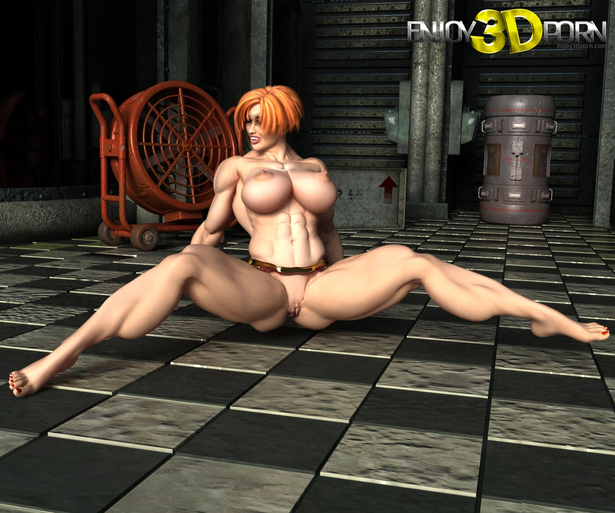 3d cartoon redhead babe taking on two hard cocks 4