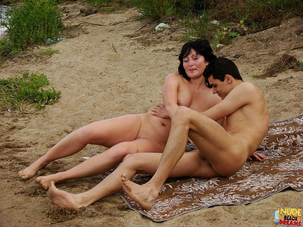 Nude beach sex public