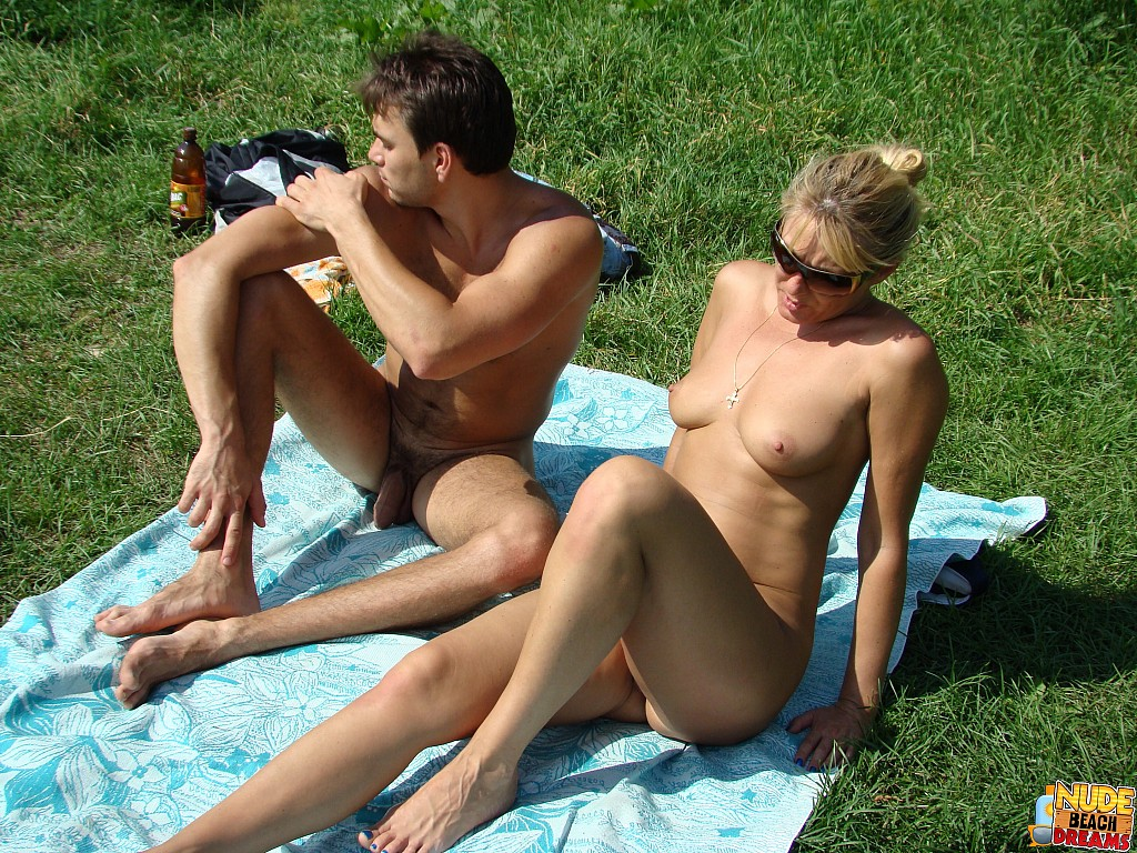 nudist sun bathers