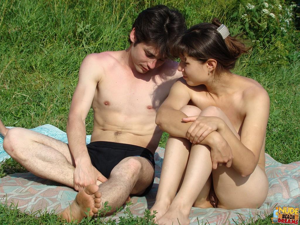 mature couples on beach